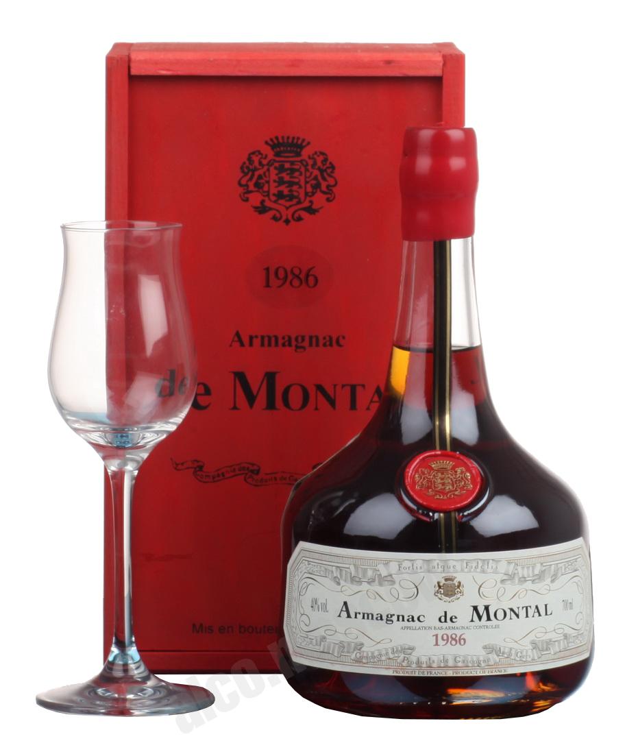 De Montal De Montal 1986 арманьяк Баз-Арманьяк де Монталь 1986 в п/у