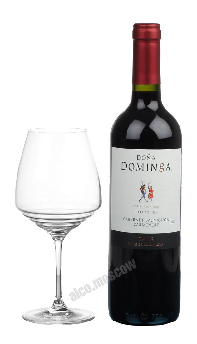 Dona Dominga Cabernet Sauvignon Carmenere Old Vines Чилийское Вино Каберне Совиньон Карменер Олд Вайнс 2015г