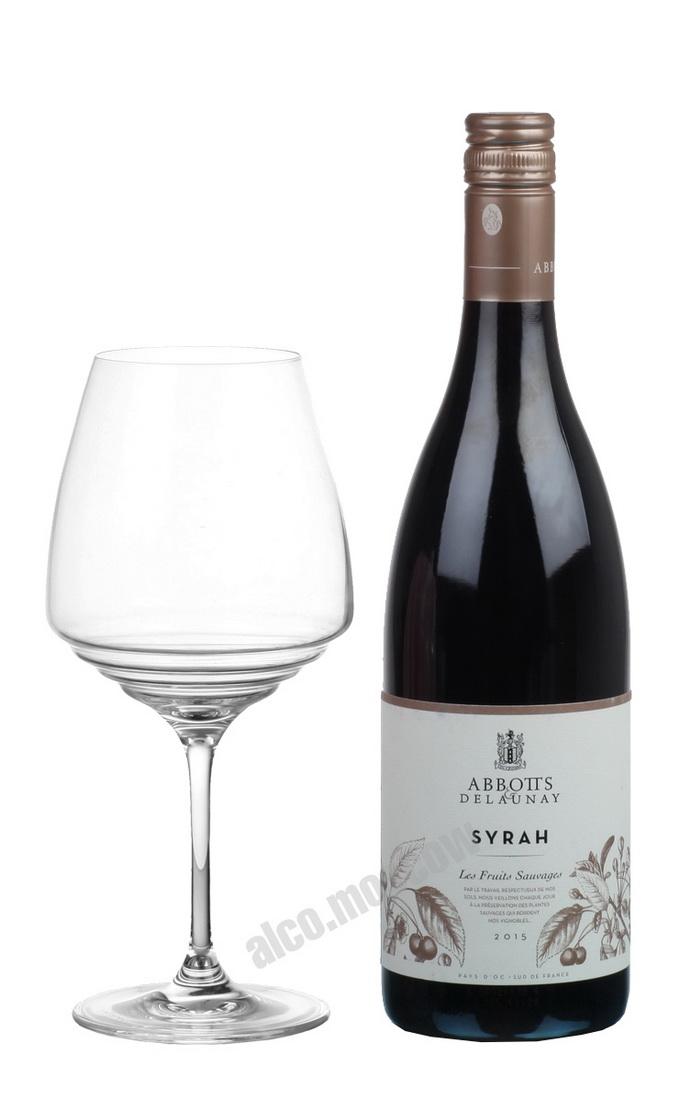 Abbotts Delaunay Abbotts Delaunay Syrah 2015 Французское Вино Сира Эбботтс энд Делонэй 2015г