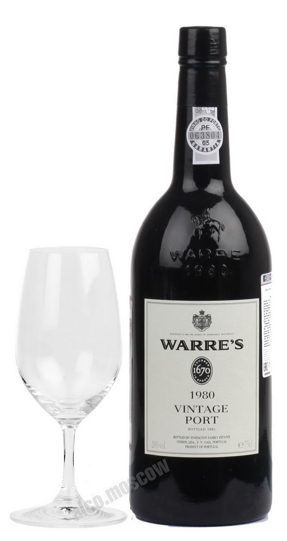 Warres  Warres Vintage 1980 Портвейн Уоррс Винтаж 1980