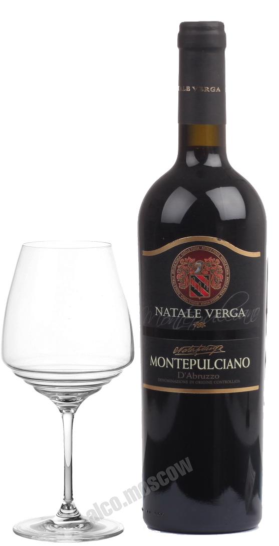 Natale Verga Natale Verga Montepulciano d`Abruzzo Итальянское вино Натале Верга Монтепульчано Д`Абруццо