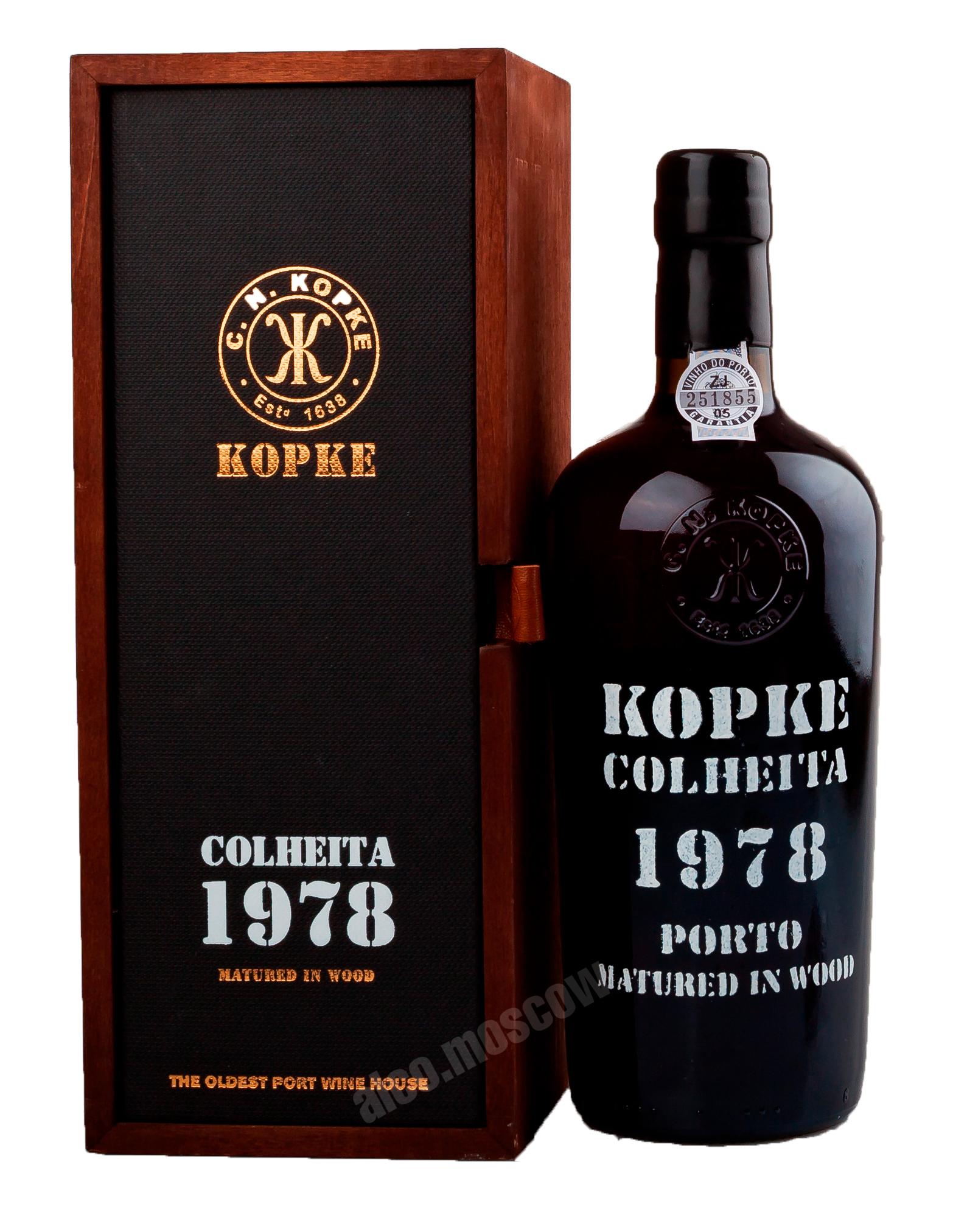 Kopke Porto Kopke Colheita 1978 портвейн Копке Колейта 1978