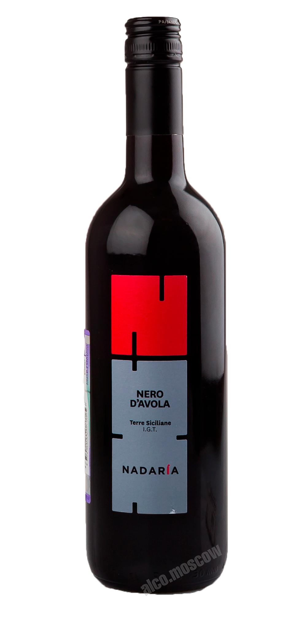 Cusumano Cusumano Nadaria Nero Davola IGT Итальянское вино дАвола Терре Сичилиане ИГТ