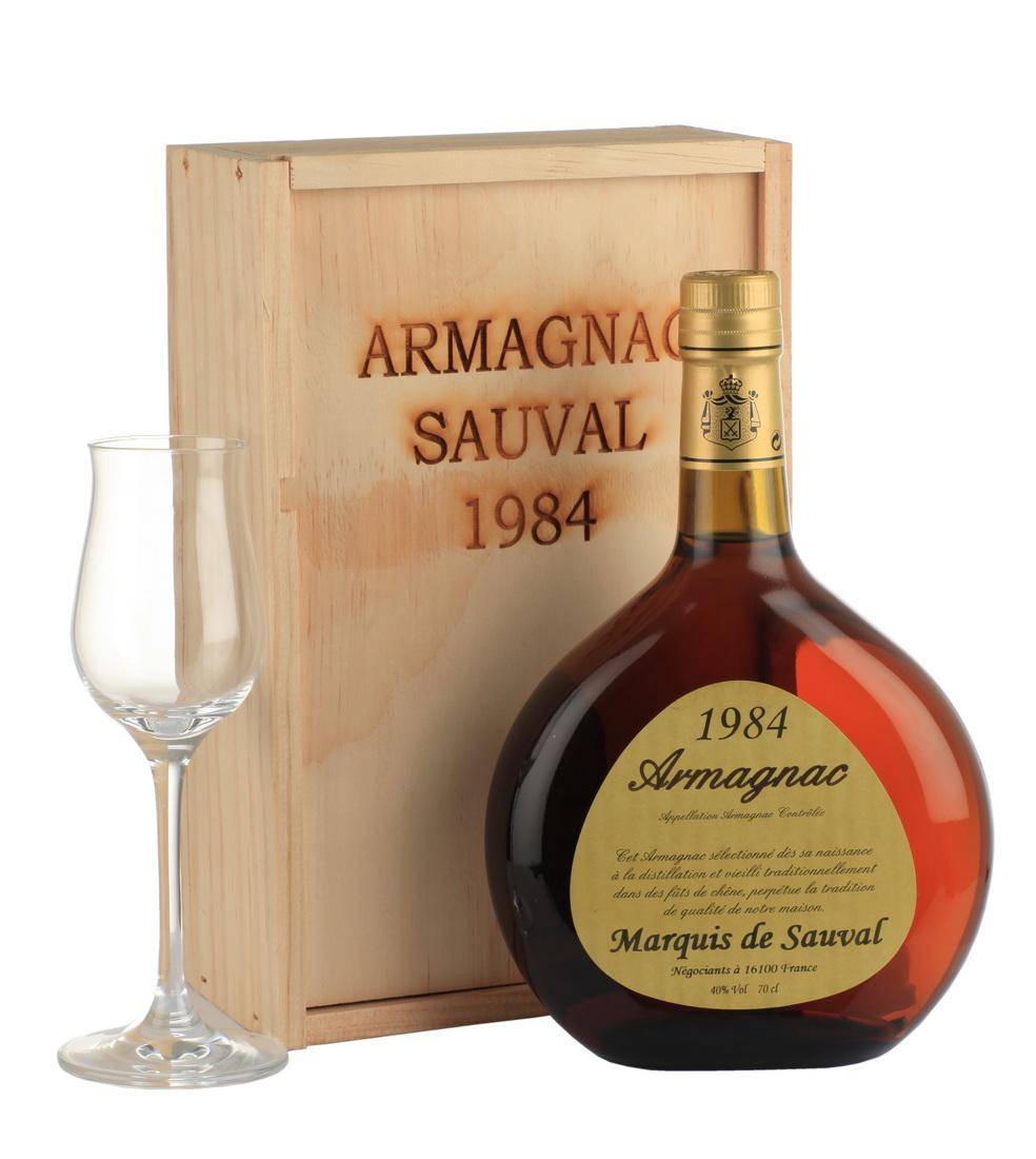 Marquis de Sauval Арманьяк Marquis de Sauval 1984 арманьяк Маркиз де Соваль 1984 года