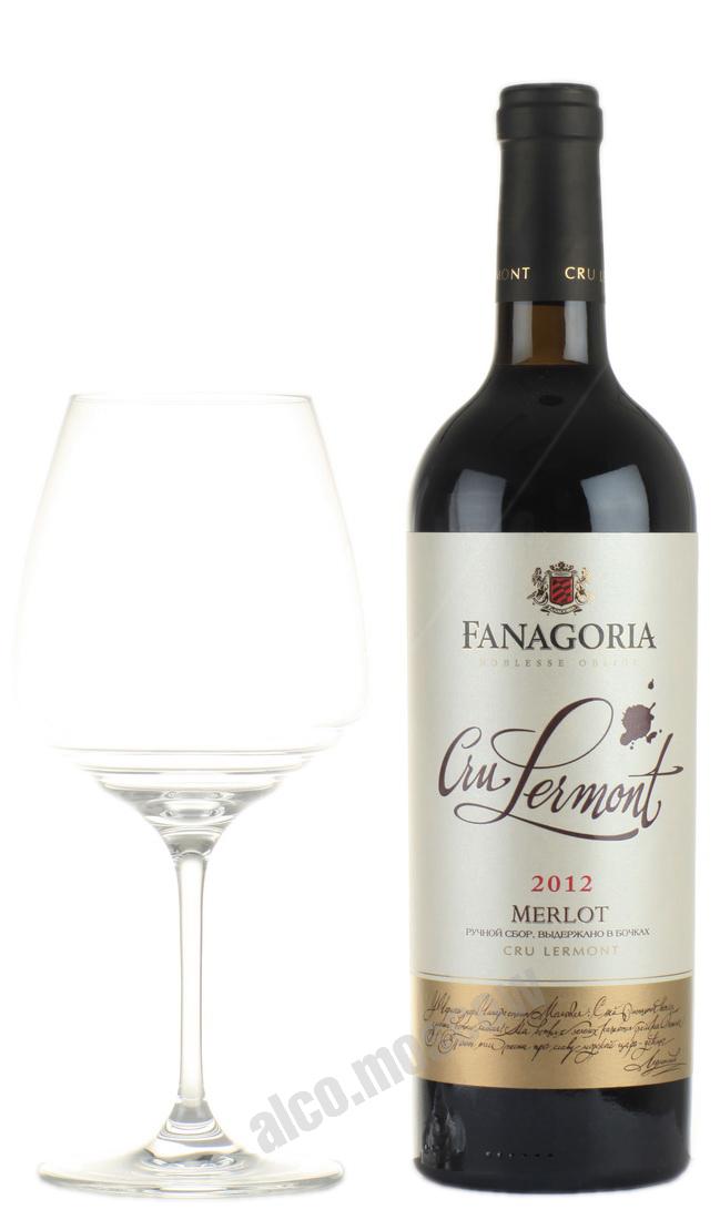 Фанагория Cru Lermont Merlot Российское вино Крю Лермонт Мерло