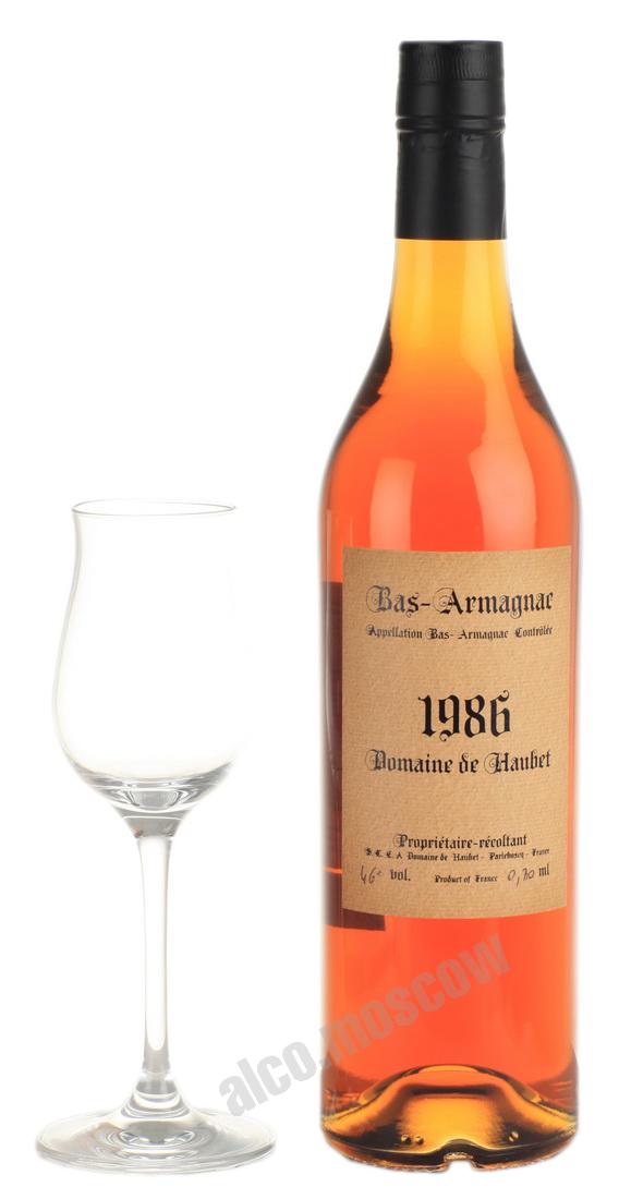 Domaine de Haubet Арманьяк Domaine de Haubet 1986 Домен де Обе 1986