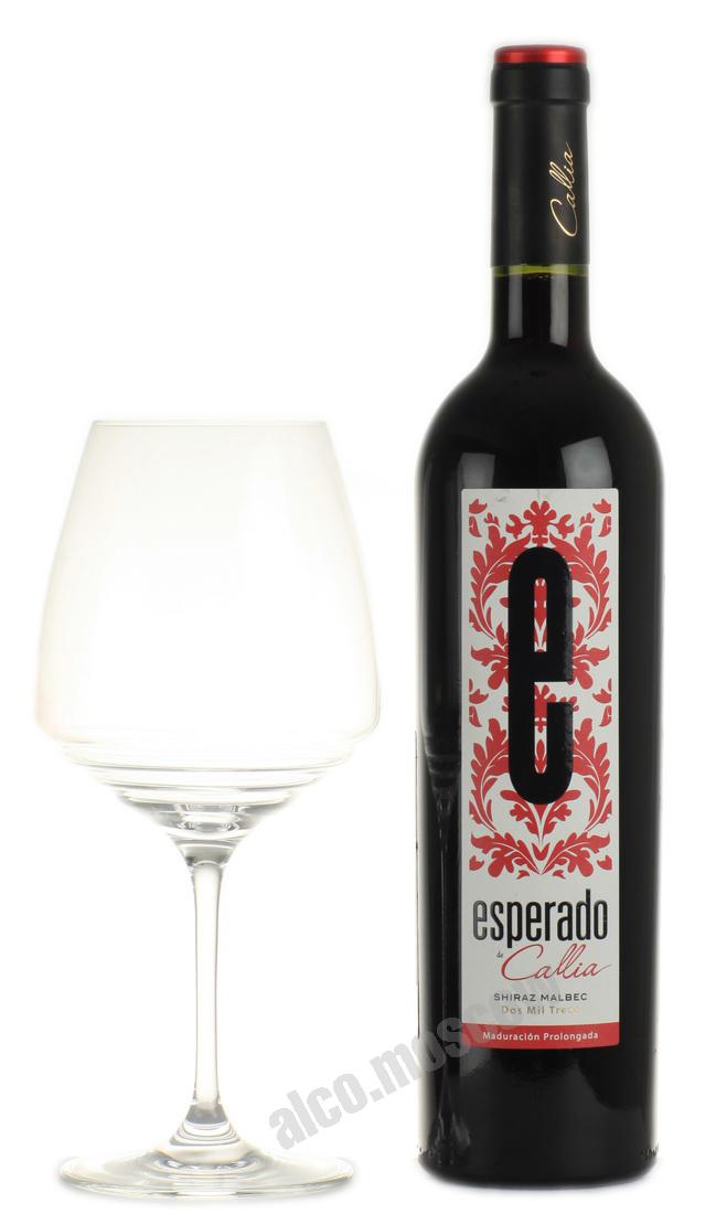 Callia Esperado de Callia Shiraz Malbec 2013 аргентинское вино Эсперадо де Калья Шираз Мальбек 2013