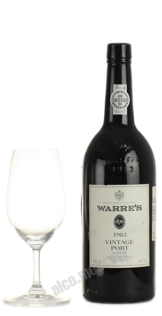 Warres  Warres Vintage 1983 Портвейн Уоррс Винтаж 1983