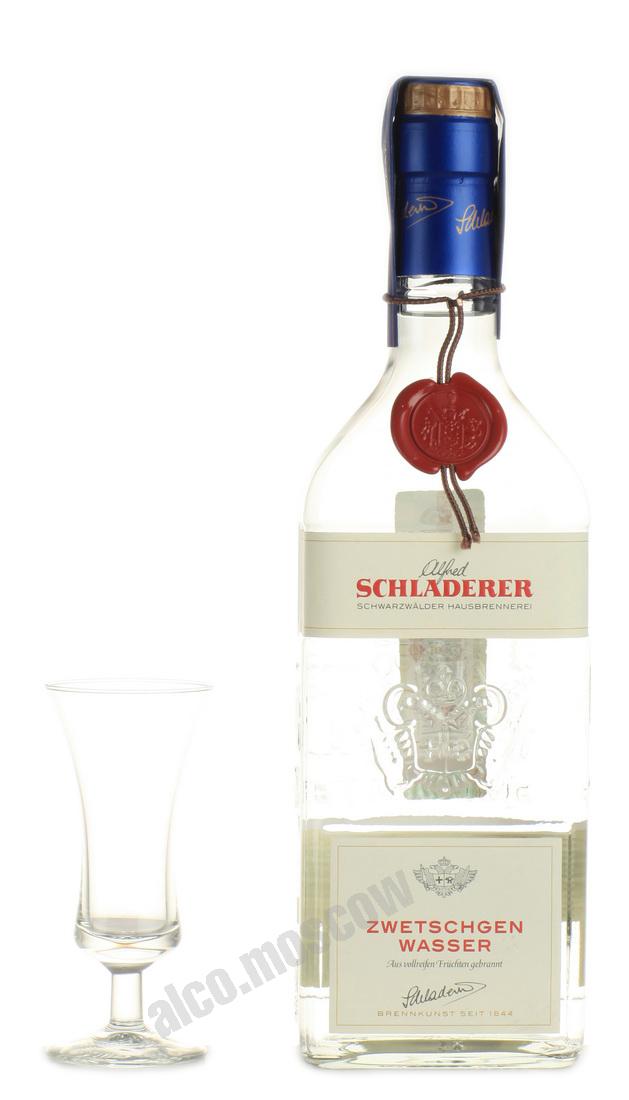 Сливовая водка Шладерер водка Schladerer Zwetschgen Wasser 0.7l
