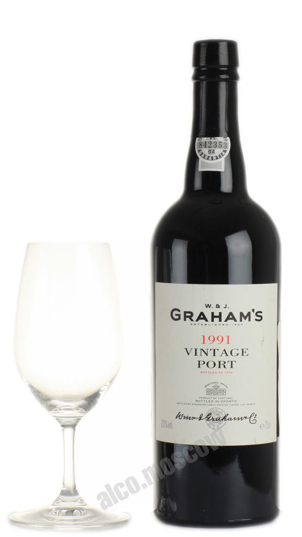 Grahams Grahams Vintage Port 1991 портвейн Грэмс Винтаж Порт 1991