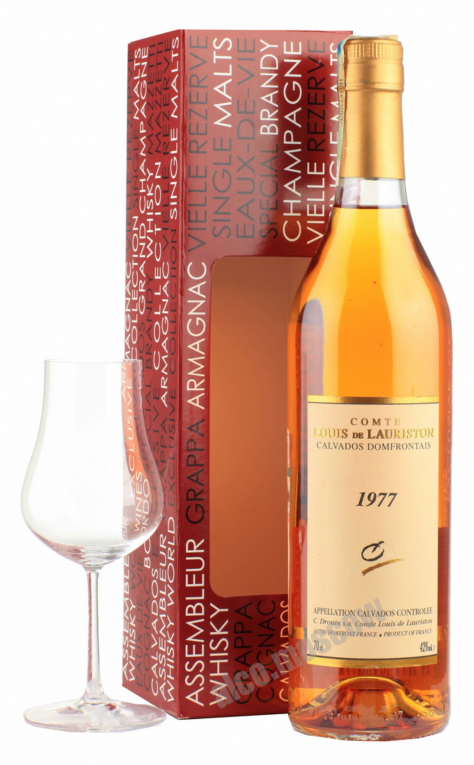 Comte Louis de Lauriston Comte Louis de Lauriston 1977 кальвадос Ком Луи де Лористон 1977