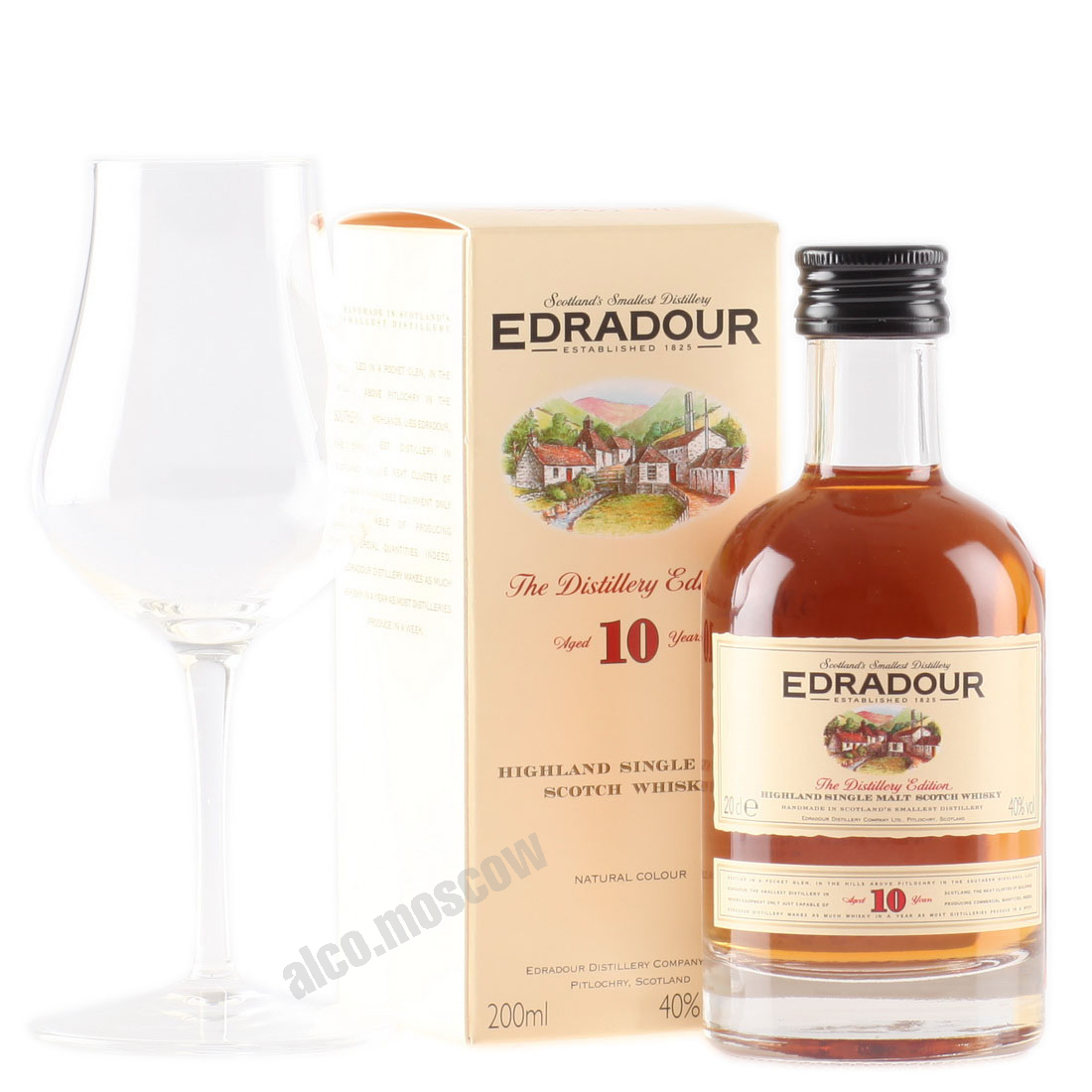 Edradour Edradour 10 years 200 ml шотландский виски Эдраду 10 лет 0.2 л