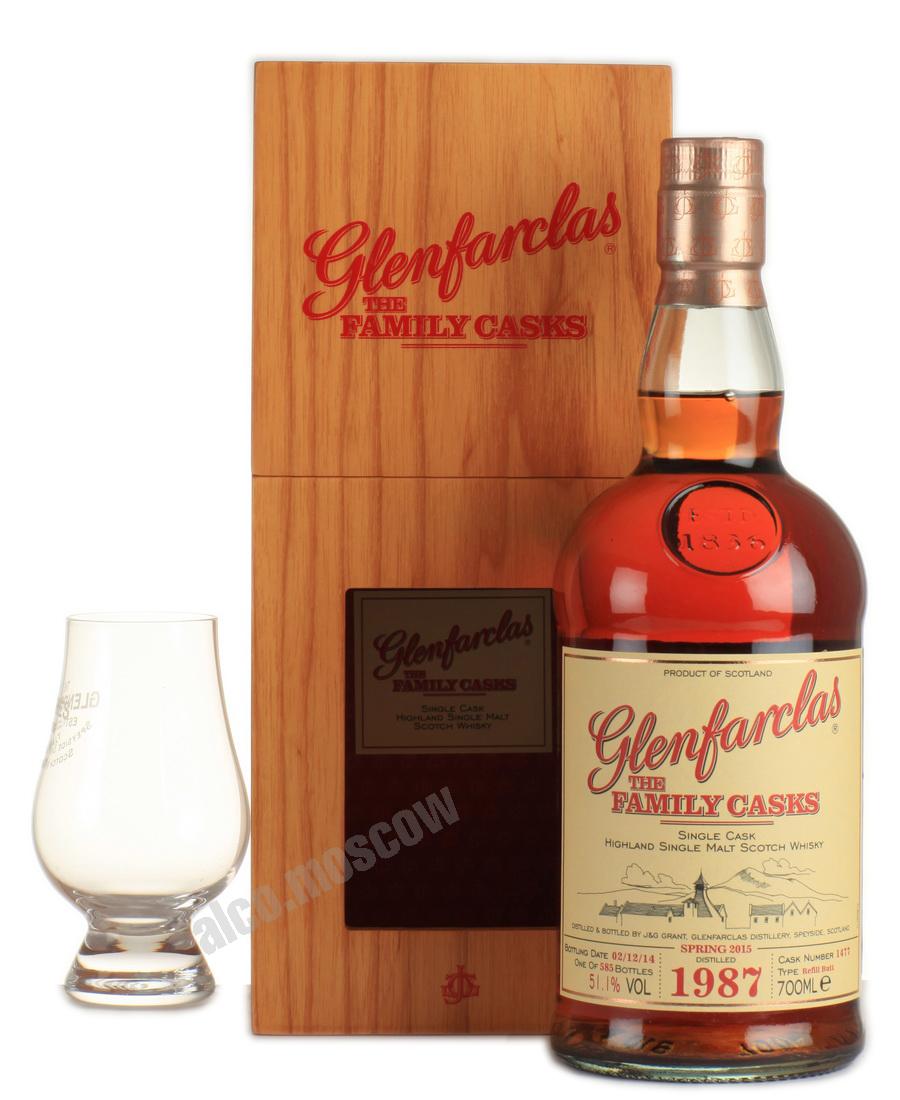 Glenfarclas Glenfarclas Family Cask 1987 шотландский виски Гленфарклас Фамили Каск 1987 года