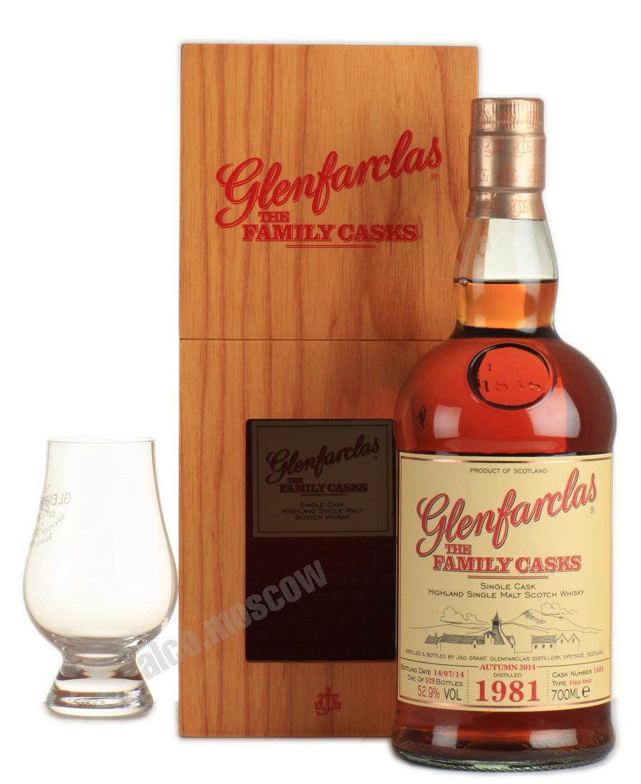 Glenfarclas Glenfarclas Family Cask 1981 шотландский виски Гленфарклас Фамили Каск 1981 года