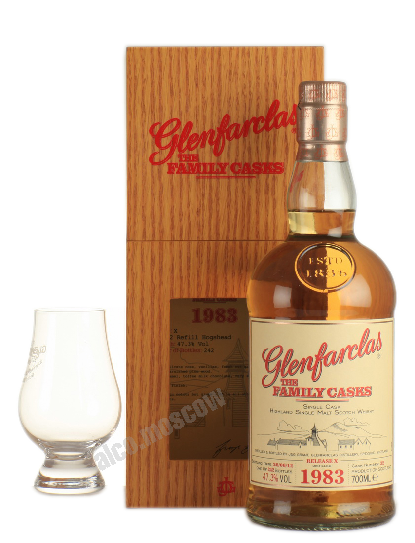 Glenfarclas Glenfarclas Family Cask 1983 шотландский  виски Гленфарклас Фамили Каск 1983 года