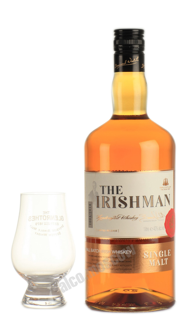 Irishman Irishman Single Malt 10 years виски Айришмен Сингл Молт 10 лет 1л