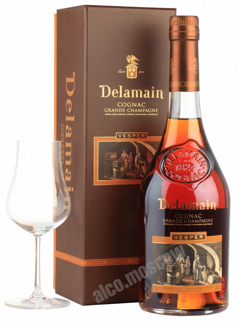 Delamain Delamain Grand Champagne Vesper Extra gift box коньяк Деламен Гран Шампань Веспер Экстра в п/к