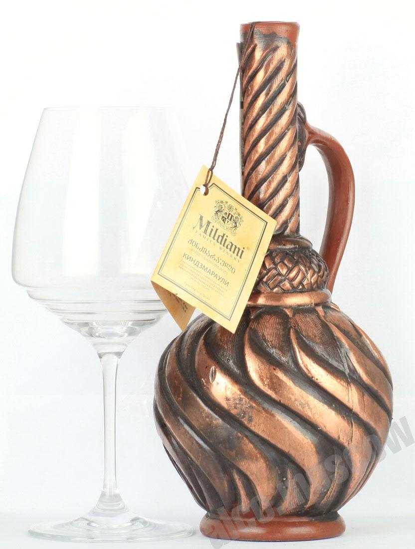 Mildiani Mildiani Kindzmarauli грузинское вино Милдиани Киндзмараули кувшин