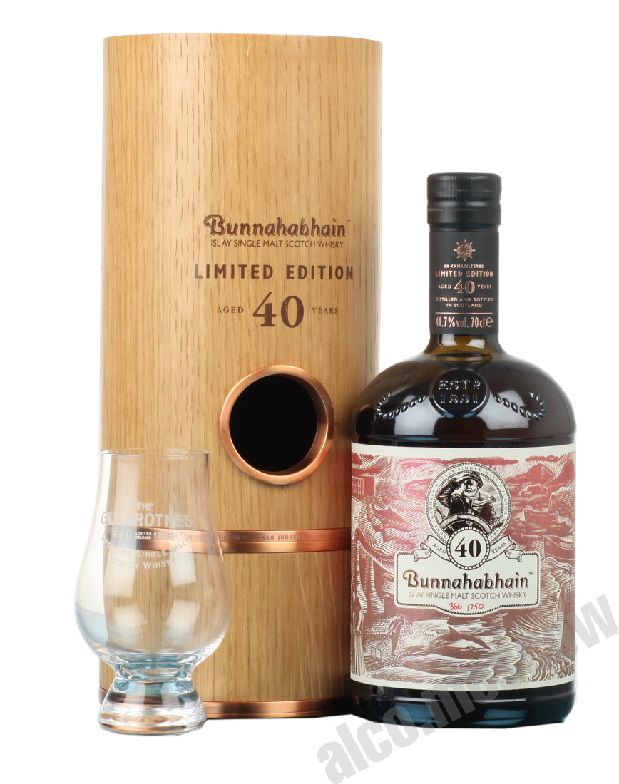 Bunnahabhain Bunnahabhain Aged 40 years Limited Edition 0,7l Виски Буннахавэн Эйджид 40 Еарс Лимитед Эдишн 0,7л в дереве