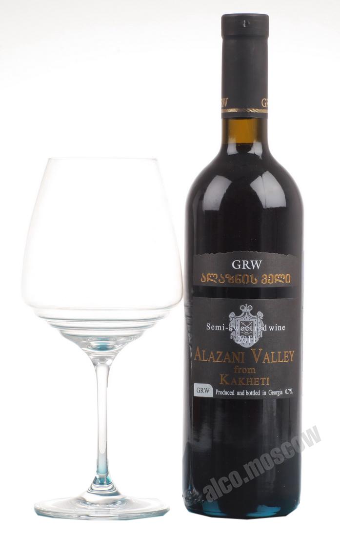 Grw Grw Alazani Valley Вино ГРВ Алазанская долина красное полусладкое