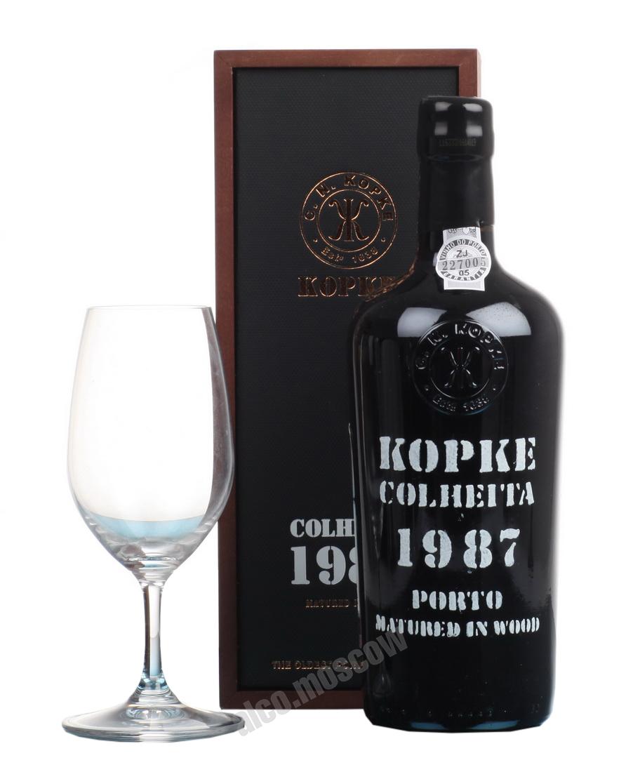 Kopke Kopke Colheita 1987 портвейн Копке Колейта 1987