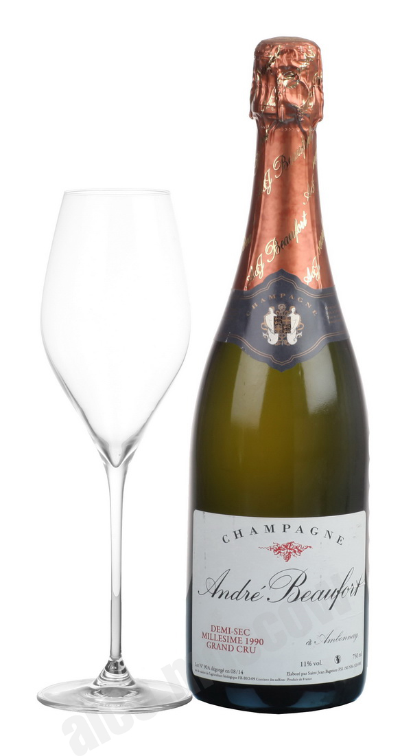 Andre Beaufort Andre Beaufort Demi-Sec 1990 шампанское Андре Буфор Деми-Сек 1990 года