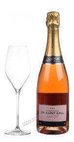 Шампанское Де Сен Галль Брют Розе 0,75л