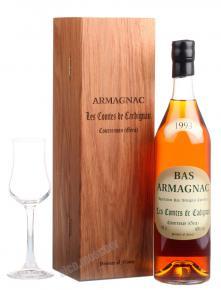 Les Comtes de Cadignan 1993 0.7l Wooden Box арманьяк Ле Комт де Кадиньян 1993 0.7 л. в дер./уп.