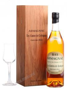 Les Comtes de Cadignan 1986 0.7l Wooden Box арманьяк Ле Комт де Кадиньян 1986 0.7 л. в дер./уп.