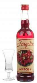 Liquor Giarola Fragolino Ликер Фраголино Джаропа земляничный