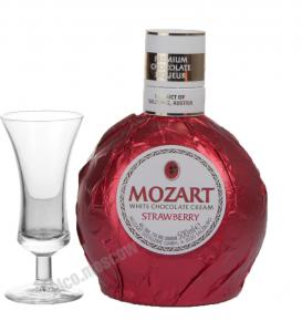 Ликер Mozart white chocolate cream strawberry Ликер Мозарт с белым шоколадом и клубникой