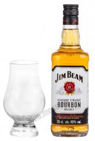 Jim Beam Bourbon 0.35 ml виски Джим Бим Бурбон  0.35 л