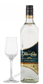 Flor de Cana Extra Seco 4 aged Флор де Канья Экстра Секо 4 года