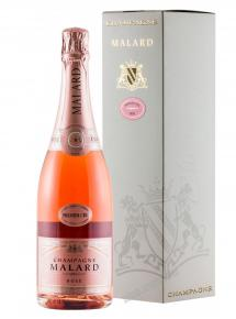 Malard Brut Rose Premier Cru gift box шампанское Малар Брют Розе Премьер Крю в п/у