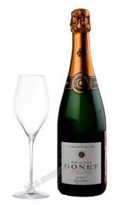 Шампань Филип Гоне Блан де Блан Брют Синьятюр АОС 0,75л