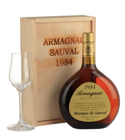 Арманьяк Marquis de Sauval 1984 арманьяк Маркиз де Соваль 1984 года