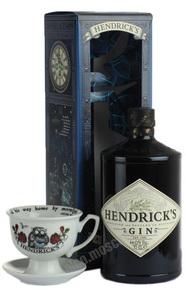 Hendricks 0.7l джин Хендрикс 0.7л в п/у с чашкой и блюдцем