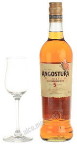 Angostura Caribbean rum 5 years old Ром Ангостура 5 лет