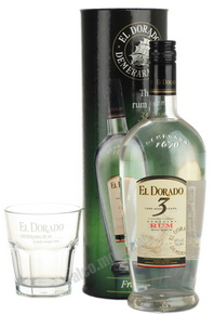El Dorado Ром Эль Дорадо 3 летний Набор со стаканом