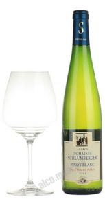 Domaines Schlumberger Pinot Blanc Les Princes Abbes Французское вино Домен Шлюмберже Пино Блан