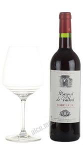 Marquis de Valbois Bordeaux Rouge Французское вино Маркиз де Вальбуа Красное