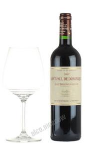 Saint-Paul de Dominique Saint-Emilion Grand Cru Французское вино Сент Поль де Доминик Гран Крю