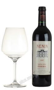 Chateau Nenin Pomerol 1997 Французское вино Шато Ненен Помроль 1997