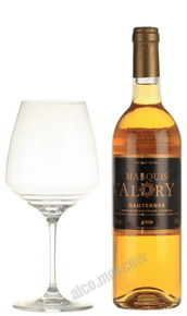 Marquis D Alory Sauternes Французское вино Маркиз Д Алори Сотерн