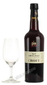 Croft Tawny 20 years old портвейн Крофт Тони 20 лет