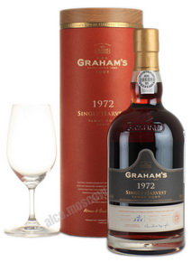 Grahams Single Harvest Tawny 1972 портвейн Грэмс Сингл Харвест Тони 1972 в тубе