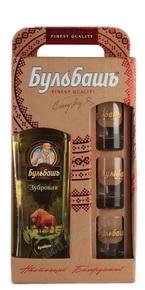 Настойка Горькая Бульбашъ Зубровая 0.5 л + 3 стакана