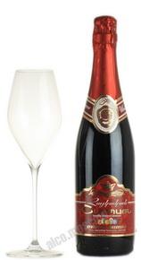 Шампанское ШГГ красное полусухое