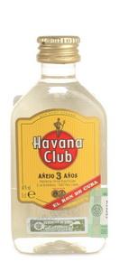 Миниатюрная бутылка Havana Club Anejo 3 years 0.05 l