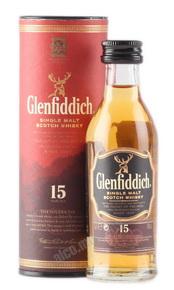 Glenfiddich 15 years виски Гленфиддик 15 лет 0.05 л
